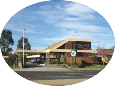View of Burwood East Motel from Blackburn Road